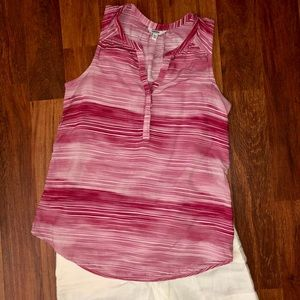Sonoma Pink & White Stripe Sleeveless Top